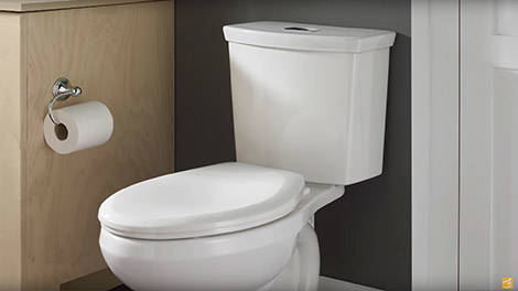 Video:Toilets: H2Option Dual Flush Right Height Elongated Toilet by American Standard - New